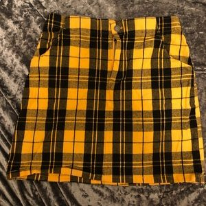 Hollister plaid mini skirt